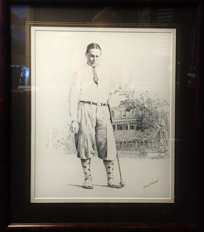 "Edward Kasper ""Bobby Jones at Merion"" Drawing Golf Original for 950 Prints Circa 1990's - $6K VALUE"