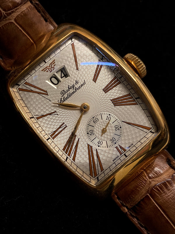 DUBEY & SCHALDENBRAND Aerodyn Date Automatic 18K Yellow Gold Wristwatch - $20K Appraisal Value! ✓