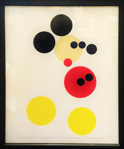 Damien Hirst Mickey Large Print LTD ED 100/250 Framed Signed Numbered, 2012 - $40K VALUE