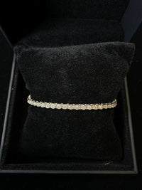 Contemporary Designer SWG w 50 Diamonds 3 cts Tennis Bracelet w $15K COA !!!!}