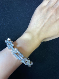 JACOB & CO. Unisex 18K White Gold Bracelet w/ 192 Diamonds! - 18 Cts. - $200K VALUE w/ UGL Certificate!