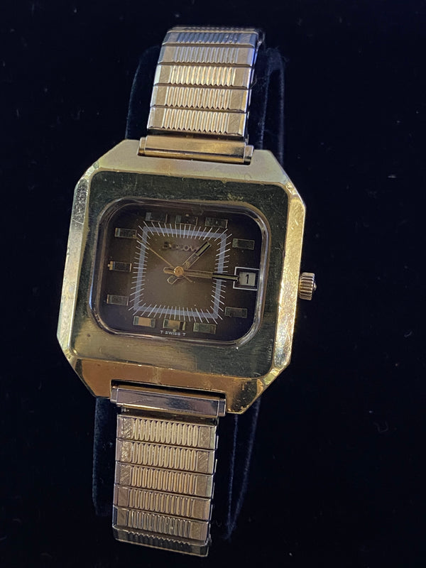VINTAGE BULOVA MENS ACCUTRON! CIRCA 1950S! ART DECO INSPIRED! RARE WITH UNIQUE DIAL! - $5K APR w/CoA!|