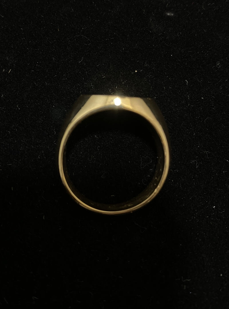 Unique 1900's Design Solid Yellow Gold Signet Ring - $6K Appraisal Value w/ CoA!