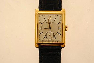 PATEK PHILIPPE Vintage Men's 18K Yellow Gold Wristwatch with Sub Second's Dial - $30K VALUE