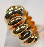 1970s Vintage Bvlgari Tri-Color 18K Gold Statement Ring - $15K VALUE