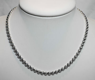 Contemporary Tiffany & Co. 4+ Carat Diamond Bezel Necklace in Platinum - $50K VALUE