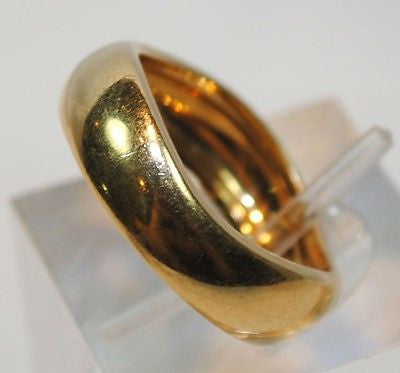 1970s Vintage Cartier Wavy Band Ring in 18K Yellow Gold - $15K VALUE