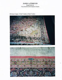 Rare Exquisite Mid 20th Century Persian Silk Rug - $40K VALUE