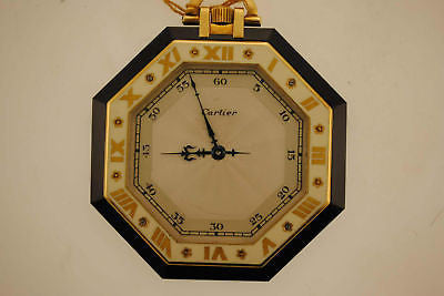 1920s Cartier Ultra-Thin Octagonal Pocket Watch in Yellow Gold with Black Onyx - $60K VALUE