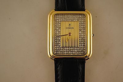Corum Diamond Pave Wristwatch in 18K Yellow Gold with 90 Diamonds - $25K VALUE