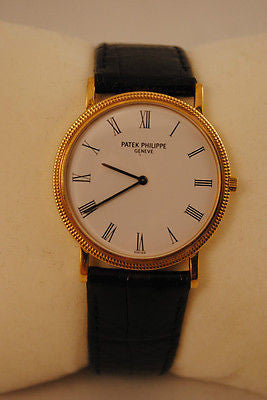 Patek Philippe Ultra-Thin Calatrava Men's Wristwatch in 18K Yellow Gold - $40K VALUE