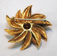 1960s Tiffany & Co. Turquoise Pinwheel Brooch in 18K Yellow Gold - $15K VALUE