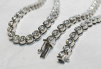 Contemporary Design 33 Carat Diamond Chain Necklace in 14K White Gold - $150K VALUE