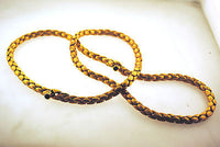 Contemporary Chiampesan Designer Star Sapphire Braided Necklace in 18K Rose Gold - $45K VALUE