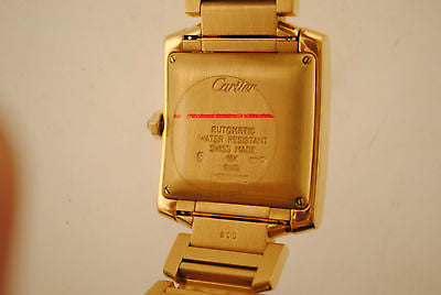 Cartier Tank Francaise Men's Wristwatch in 18K Yellow Gold with Special Special Sunray Dial - $40K VALUE