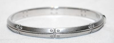 Tiffany & Co. Diamond Bangle Bracelet in 18K White Gold - $25K VALUE