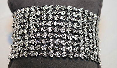 Contemporary 23 Carat Diamond Statement Bracelet in 18K White Gold - $80K VALUE