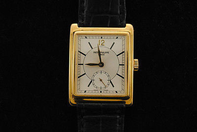 Vintage Patek Philippe Men's Wristwatch in 18k Yellow Gold with Sub Second's Dial - $30K VALUE