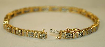 Contemporary 5+ Carat Diamond Tennis Bracelet in Solid Yellow Gold - $20K VALUE