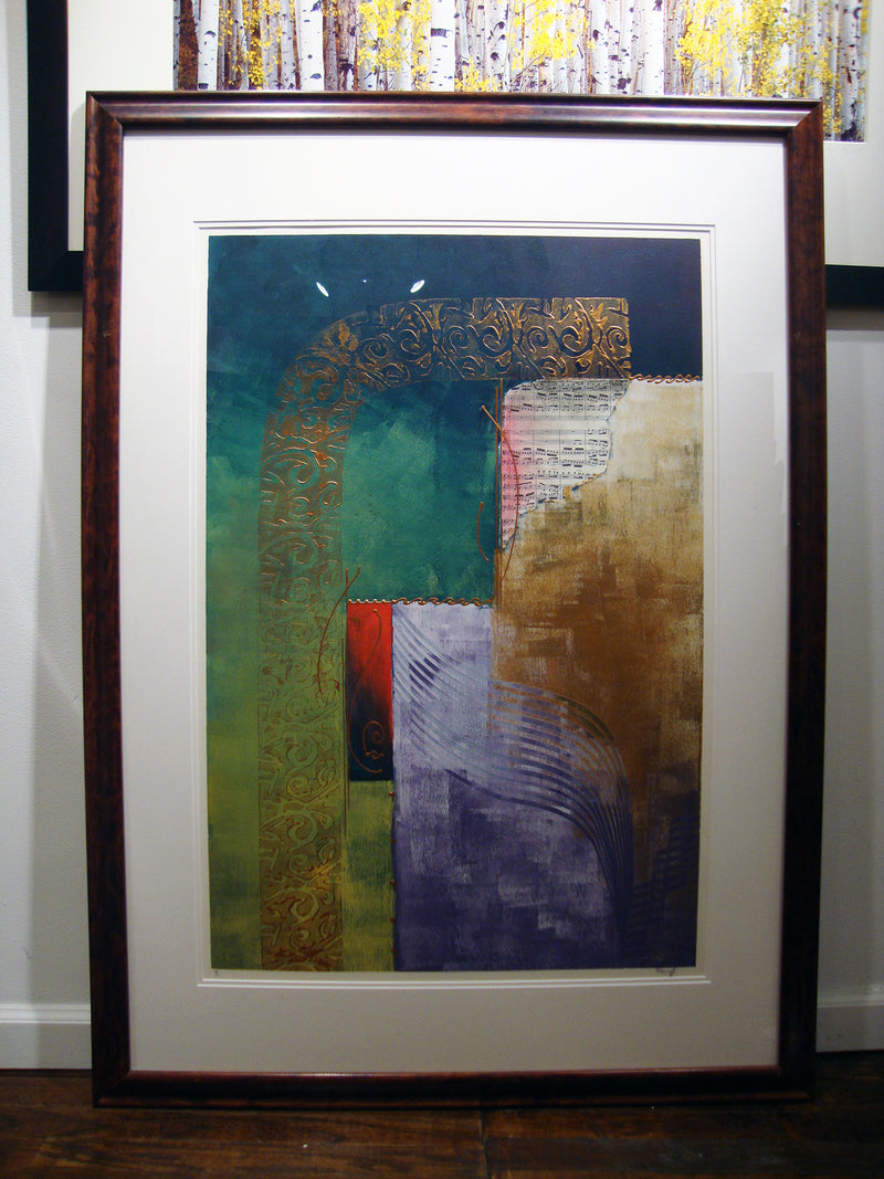 "KAMY DELJOU ""A Series, #1"", Mixed Media - $10K Value! *"