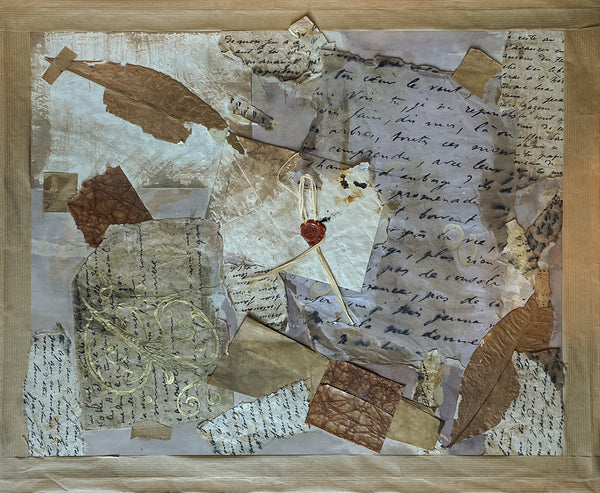 Sandrine Comas, 'Letters,' Mixed Media on Paper, 2006 - Appraisal Value: $1.6K!