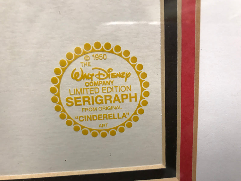 CINDERELLA AND PRINCE CHARMING Animation Cel - APR $4K Value!*