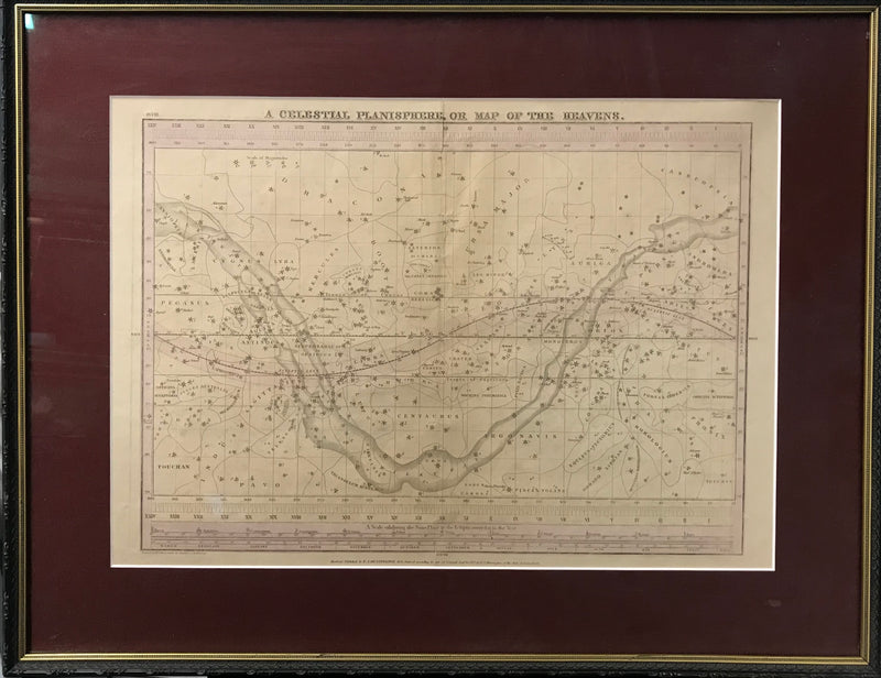 "E.H. BURRITT ""A Celestial Planisphere, or Map of the Heavens"" - APR $5K Value!*"