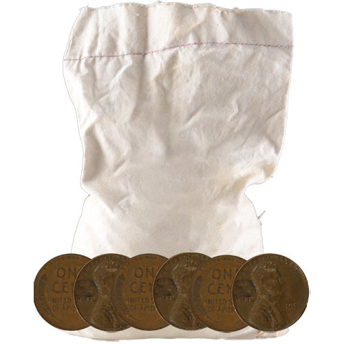 Wheat Pennies 5,000 Count Bag (Common Dates)