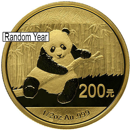 1/2 oz Chinese Gold Panda Coin (Random Year, Unsealed)