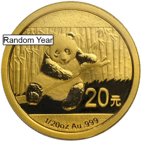 1/20 oz Chinese Gold Panda Coin (Random Year, Unsealed)