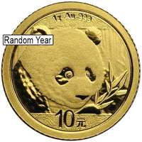 1 Gram Chinese Gold Panda Coin (Random Year, Unsealed)