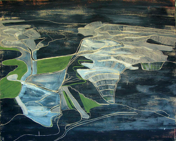 Jean Arnold, Removal: Darkness (WV , coal),' Extraction Series, Oil on Canvas, Unframed, 2012 - Appraisal Value: $15K