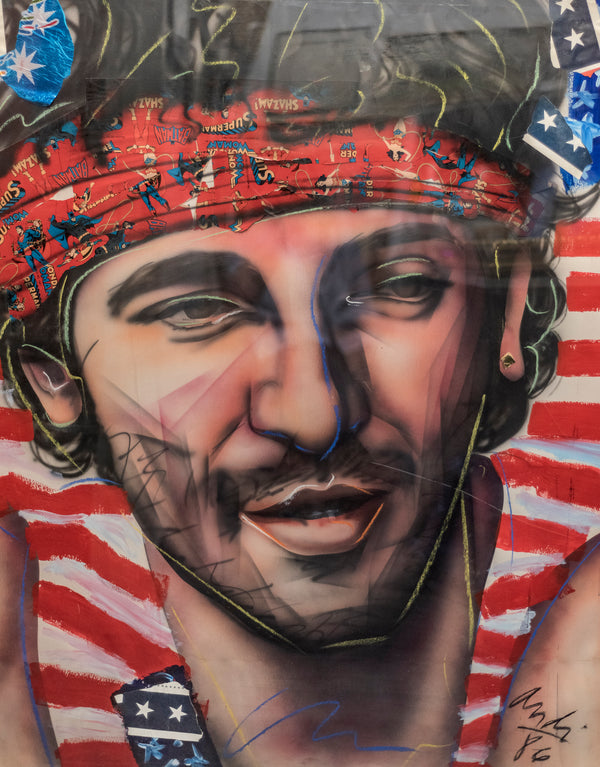 Andi, 'Bruce Springsteen, Signed Mixed Media on Paper, 1986 - CoA - & $20K APR Value!+*