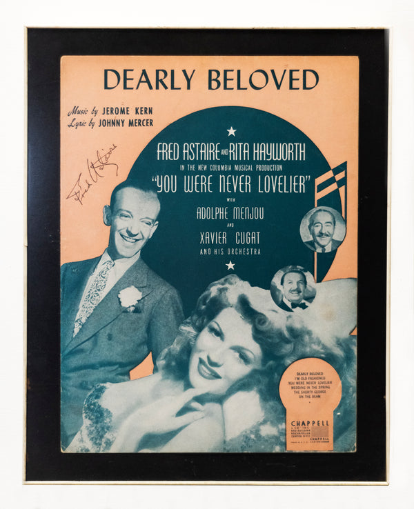 FRED ASTAIRE Signed Movie Sheet Music Cover. Framed. 1942 -w/CoA- $5K Appraisal Value!+