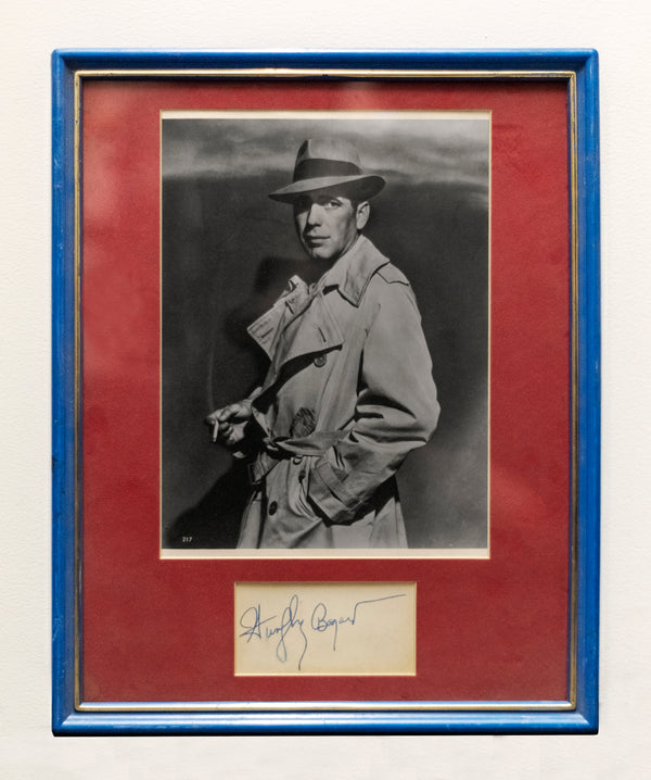 Humphrey Bogart Autograph with Portrait, Framed. C.1940s -w/CoA- $2K APR Value!+