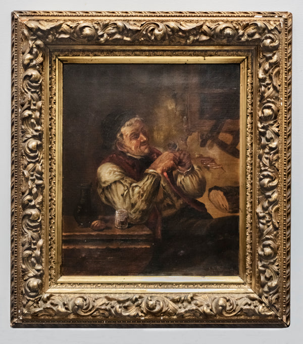 Signed & Dated 1893 Dutch Portrait, Oil on Canvas with Carved & Gilt Frame -w/CoA- $25K APR!+