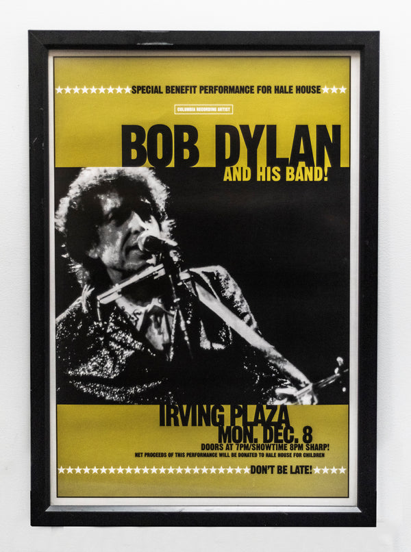 BOB DYLAN & His Band Original 1997 Irving Plaza NYC Concert Poster - $1K APR w/ CoA!