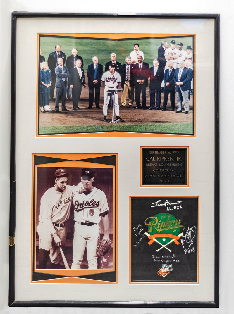 Cal Ripken Jr One of a Kind Confiscated Gift Signed by 4 Umpires. 1995. w/COA & 20K APR!+