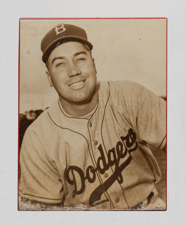 Duke Snider 1951 Portrait on Canvas Mounted Lithograph -w/CoA- $2K APR Value!+