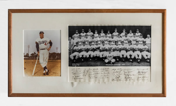Vintage 1954 Duke Snider & BK Dodgers Team Photo,w/35 Signatures -CoA- $10K APR+
