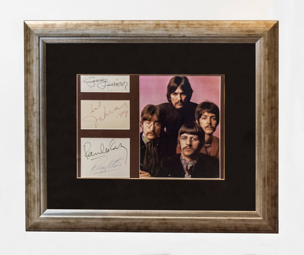The Beatles C.1970 Framed Autographs with Formal Portrait -w/CoA- $50K APR Value!+