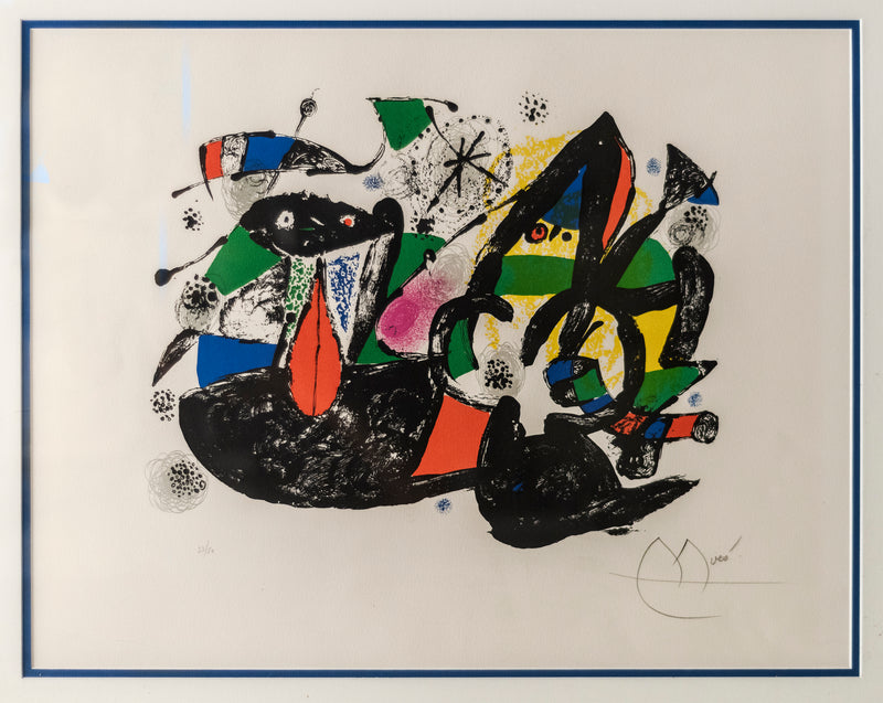 "Original Miró ""Twentieth Century Siecle"" Lithograph Signed & Numbered 33/50- $20K APR VALUE*"