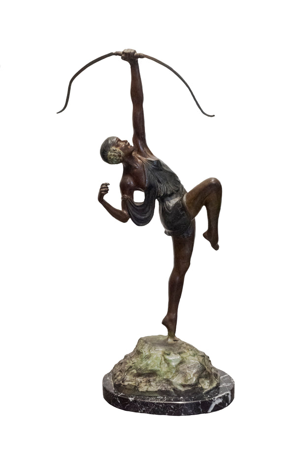 Pierre Le Faguays, 'Diana The Huntress,' Bronze Figure, c.1920 - w/CoA -  $15K APR+*