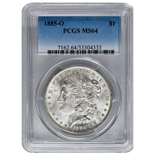 Morgan Silver Dollar Coin PCGS MS64 (1878-1904)