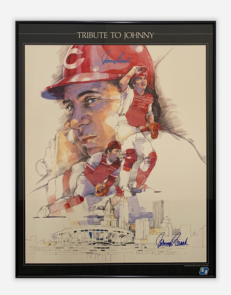 """Tribute to Johnny"", Signed by Johnny Bench, Baseball Memorabilia - $800 Apr Value!*"
