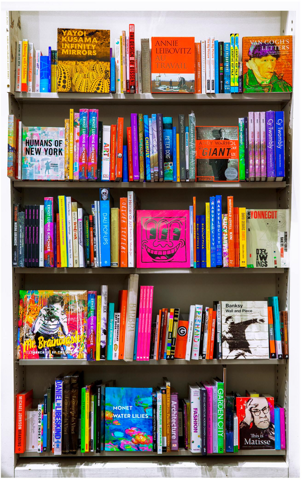 "Cedric Sequerra, 'Artist Library', Collection: Bibliophile, 58"" x 36"" inches, 2020 - Appraisal Value: $9K*"