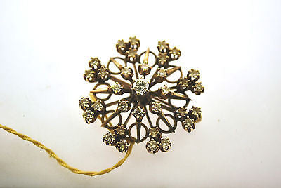 Victorian 1.75 Carat Diamond Brooch/Pendant in 18K Rose Gold - $15K VALUE