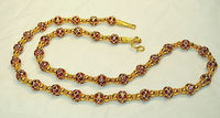1970s Ornate 100+ Carat Ruby Necklace in 22K Yellow Gold - $100K VALUE