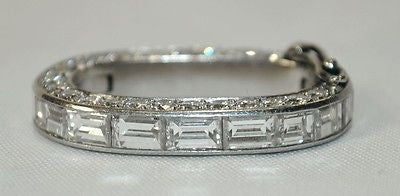 1920s Vintage 3+ Carat Diamond Neckace Shortener in Platinum - $20K VALUE