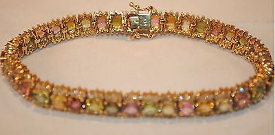 Contemporary Diamond, Peridot, Topaz, Quartz Multi-Gemstone Bracelet in 14K Yellow Gold - $25K VALUE
